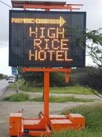 Texto High 'Rice' Hotels descuido, hilaridad of berguensa..