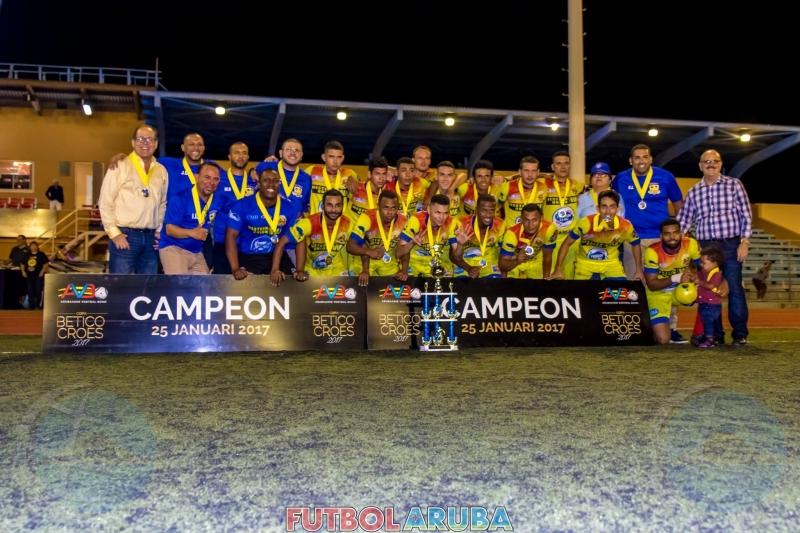 Sv Britannia Vitamalt campeon Copa Betico Croes 2016/17