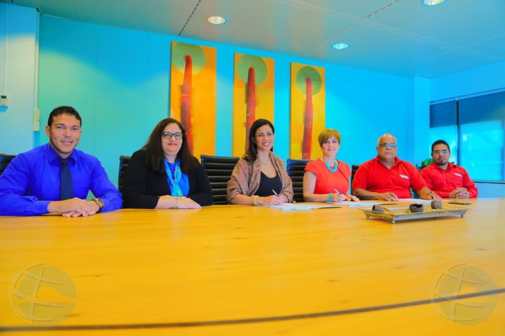 Aruba Bank a firma contracto colectivo nobo cu FTA