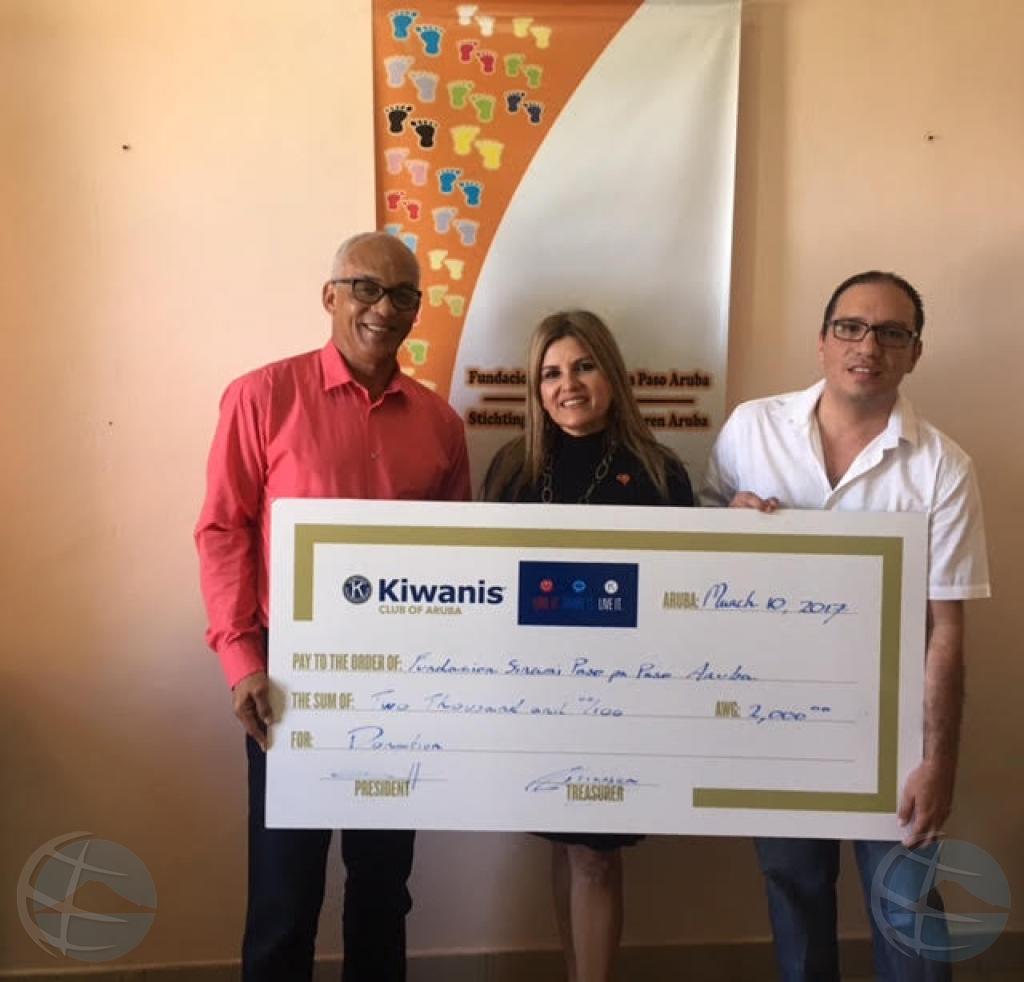 Kiwanis Club of Aruba cu donacion di 40 mil florin na diferente fundacion