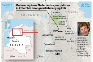 Periodistanan Colombiano ta exigi liberacion di coleganan di programa Spoorloos
