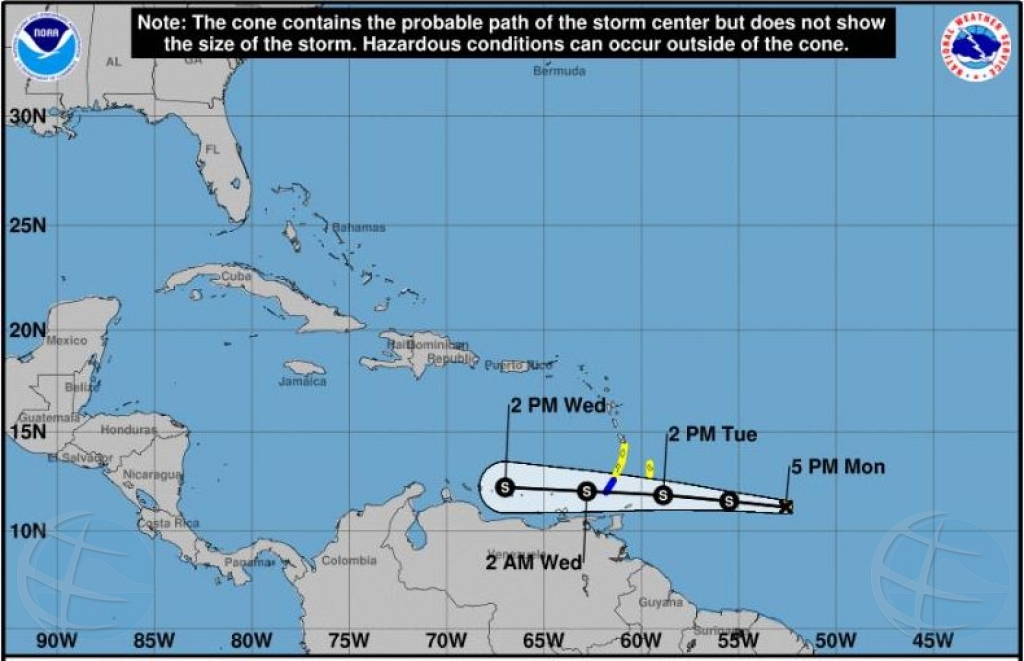 Otro tormenta tropical riba ruta pa islanan ABC