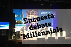 Falta apenas 2 dia pa encuesta debate di millennials cera