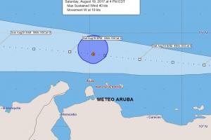 Tormenta Harvey ta pasa 155 km pa nort di Aruba diasabra atardi