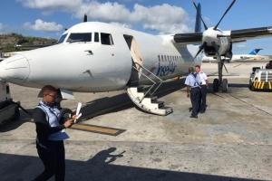 Ultimo buelo InselAir pa St Maarten prome cu horcan Irma, cancela