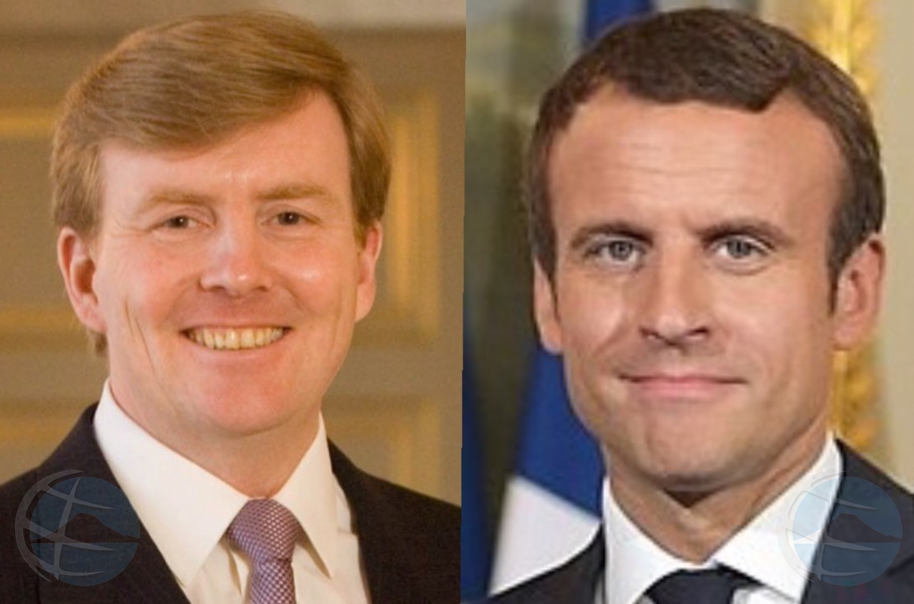 Rey di Hulanda y Presidente di Francia ta bishita St Maarten
