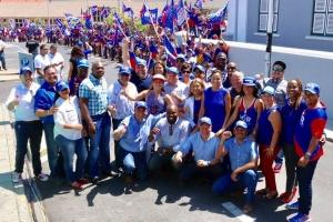 Ruta di parada politico di partido POR di awe nochi