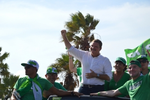 Partido AVP a tene su parada di auto rond di Aruba