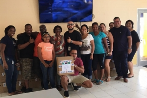 FSTT y coleganan di Setar a colecta placa pa manda St. Maarten via Cruz Cora Aruba