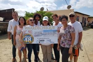 Di ocho donacion di Aqua48 a bay pa Crijojo Trappers Aruba