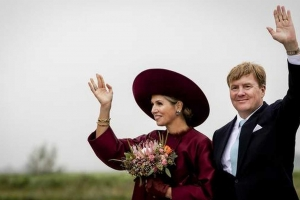 Rey Willem Alexander y Maxima ta bishita Isla Riba fin di luna