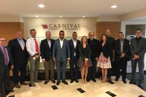 Autoridadnan di turismo a reuni cu Carnival y Royal Caribbean Cruise Lines