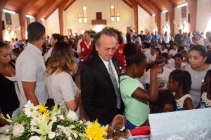 Aruba said goodbye to Rishandroh and Eugene today