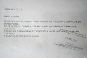 Blokeo aereo y maritmo total atrobe entre Venezuela y islanan ABC