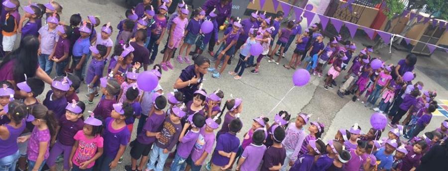 Stichting Epilepsie ta bolbe celebra purple day