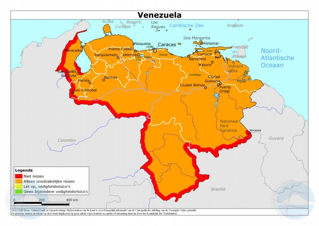 Reino Hulandes a adapta conseho di biahe pa Venezuela