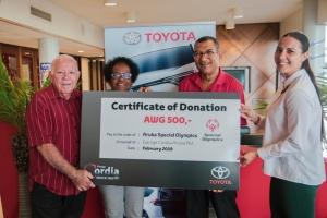 Garage Cordia a haci donacion na Special Olympics
