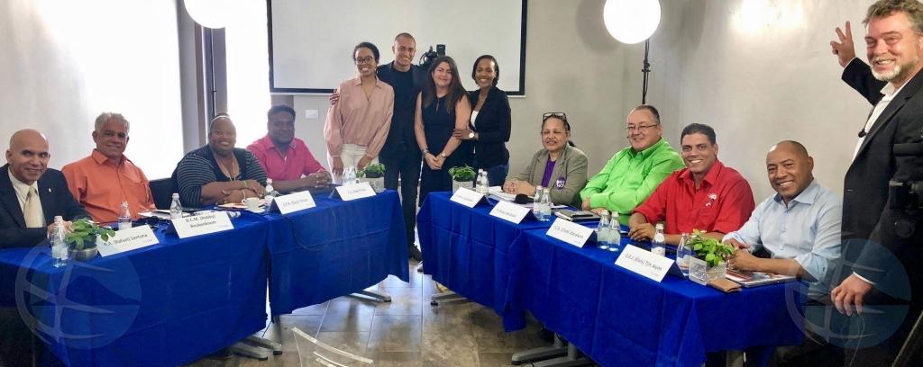 Ultimo debate politico prome diabierna prome cu eleccion di Bonaire