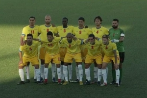 Seleccion nacional di futbol di Aruba mal pega na Antigua