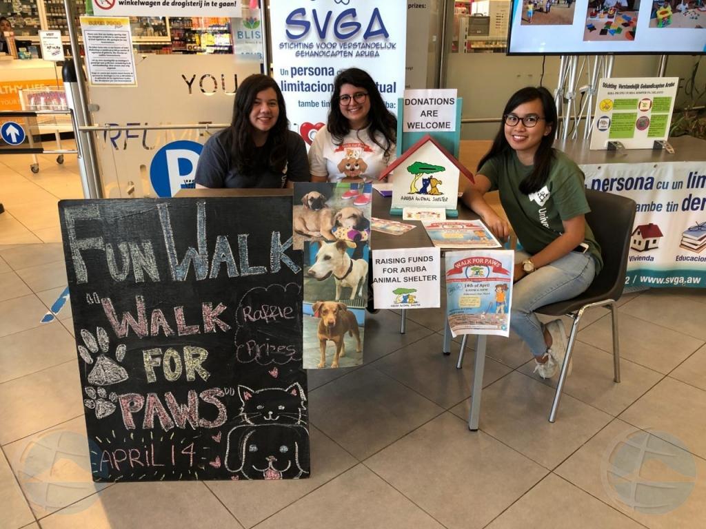 Walk for Paws ta recauda fondo pa Aruba Animal Shelter