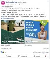 Pueblo a vota 68% pa Ecotech y 32% pa Serlimar