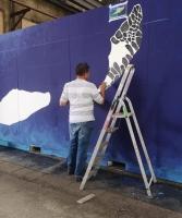 Artistanan di Aruba ta estrena pintura durante Festival Internacional na Hulanda