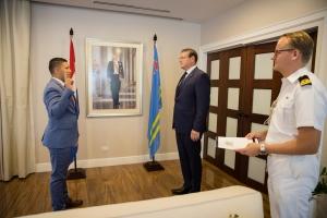 Patrick vd Biezen a huramenta como Fiscal na Ministerio Publico