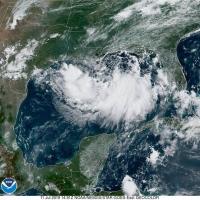 Tormenta tropical Barry a nace awe mainta den golfo di Mexico