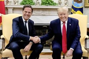 Prome minister Hulandes Rutte a topa presidente Donald Trump