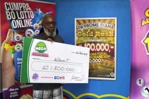 E ganador di Mega Miyonario di Aruba a bin reclama su premio