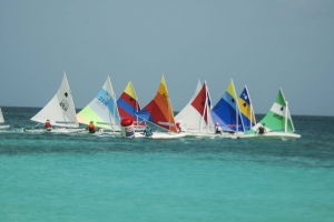 Preparando pa e di 11 edicion di Aruba International Regatta