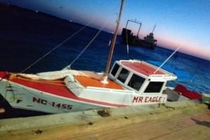 Warda Costa a asisti boto cu a keda pega riba rif na Barcadera