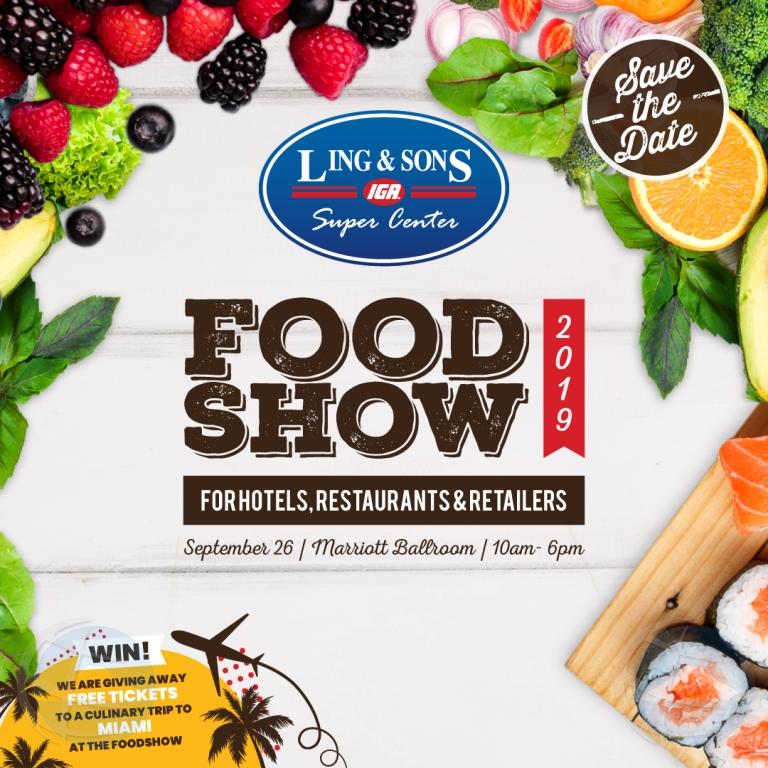 Atencion Food lovers! Ling & Sons Food Show 2019 ta na caminda