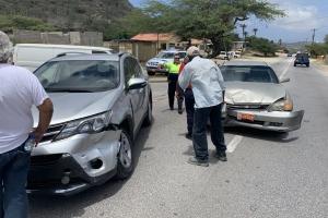 Accidente di trafico cu persona leve herida na Hooiberg