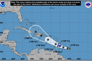 Meteo: Tormenta tropical Dorian ta molester solamente pa navegacion maritimo
