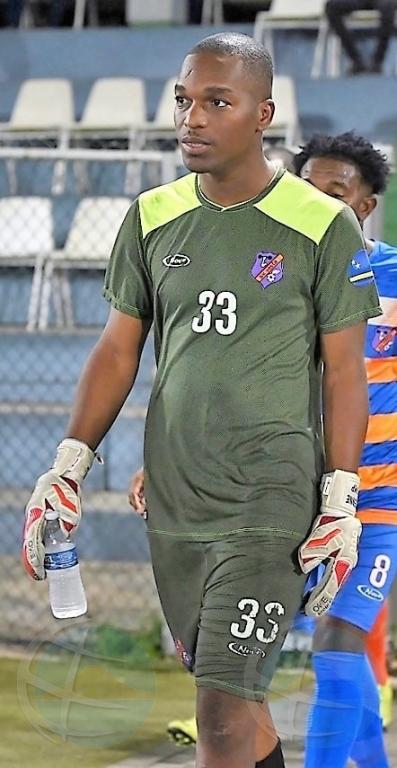 Keeper di seleccion di futbol di Corsou a fayece na Haiti