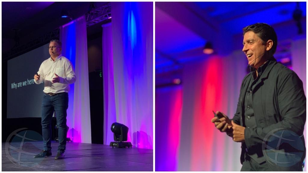 Oradornan Frans Ponson y Carl Gould a captiva e publico durante evento di KVK