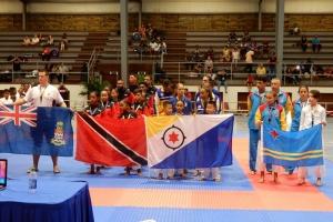 Aruba a logra varios medaya den 'Curaçao Open 2019' di Karate