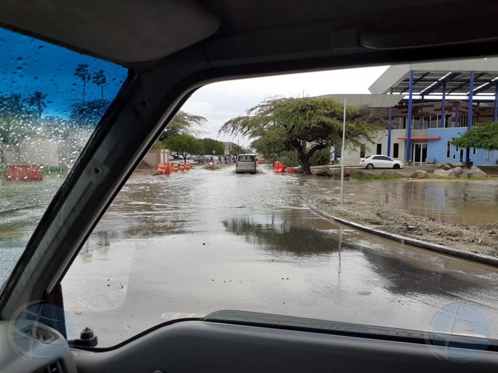 Area di rotonde na Noord tabata bou di awa un dia despues cu a habrie