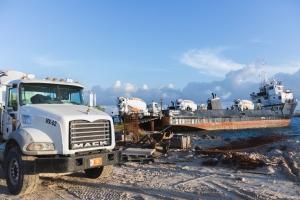 ATCO Concrete a crusa lama pa basha casi 300m3 di beton na De Palm Island