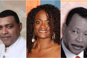 Tony Sherman, Izaline Calister y Boy Thode hunto den show di Pasco na Aruba