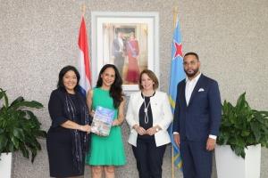 Ministernan di Asuntonan Economico di Aruba cu Corsou a reuni