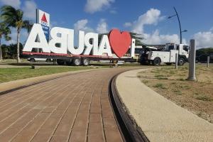 Borchi di I LOVE ARUBA a haya su sitio permanente nobo