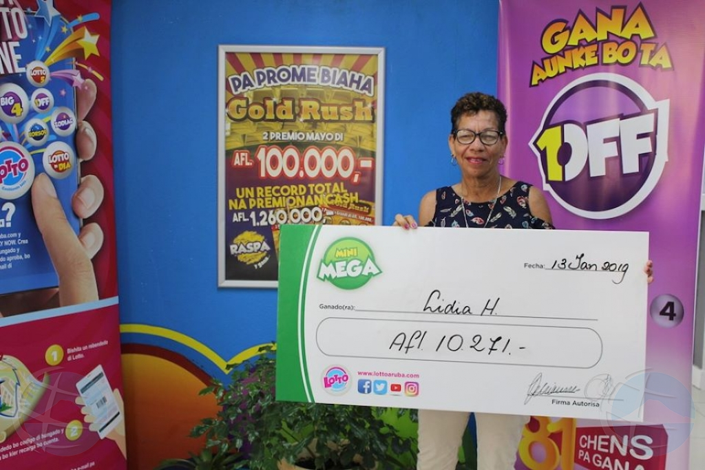 Lidia a gana di dos premio di Mini Mega cu Lotto