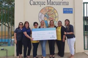 NV Elmar a haci donacion na Cacique Macuarima School
