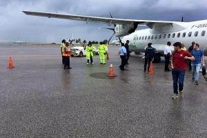 Avion di Win Air a bolbe St Maarten debi na problema cu motor