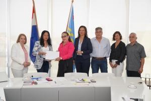 Minister a scucha preocupacionan di Stichting Parkietenbos Aruba