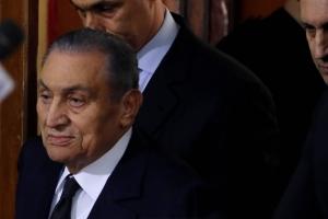Ex presidente di Egipto Hosni Mubarak a fayece