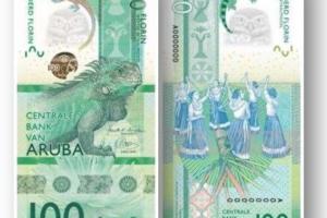 Papel di 100 florin nobo di Aruba a gana premio prestigioso