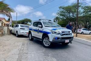 Persecucion ta causa accidente entre polis y e auto en cuestion